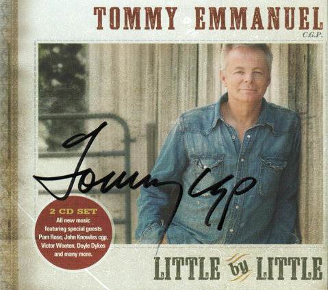 tommy emmanuel little by little double cd 2011 certified guitar player cpr entertainment. Black Bedroom Furniture Sets. Home Design Ideas